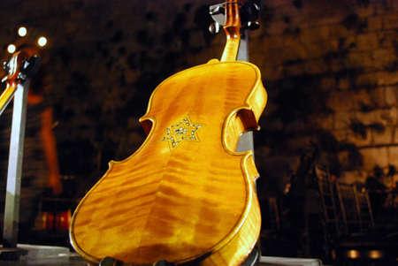 lamentation: Violins of hope Stock Photo