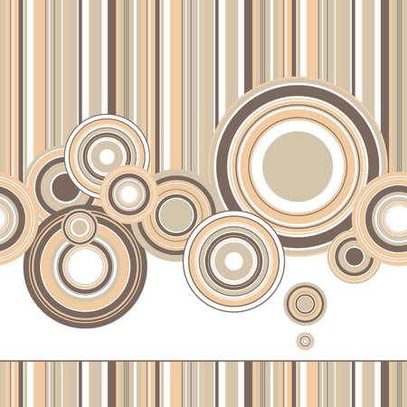 Design créatif d'un fond rétro avec des cercles