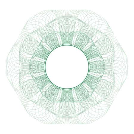 rosette: Patr�n de vector para la moneda, certificados o diplomas  Vectores
