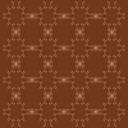 Seamless yellow pattern on a brown background Stock Vector - 7556908