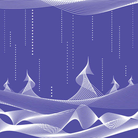 reiteration: Abstract christmas background with trees Illustration
