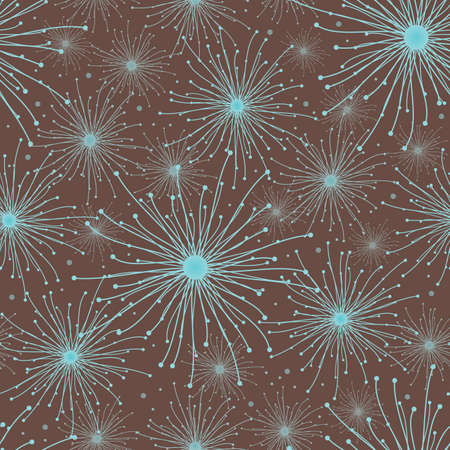 Abstract pattern of the stars on a brown background, vector Vector