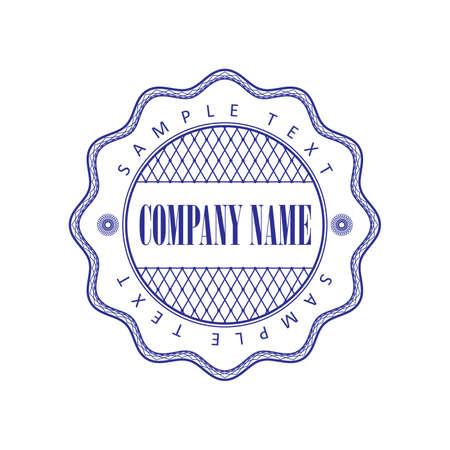 blank center: guilloche print for the company