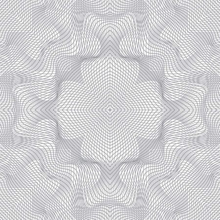 tangier: illustration of tangier grid, abstract guilloche background