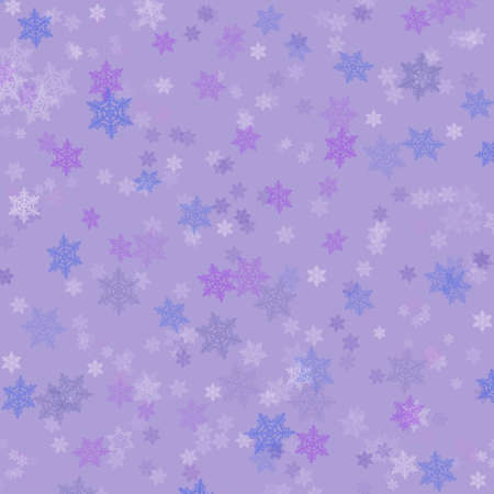 Illustration background graphic of snowflakes falling in Winter. illustration