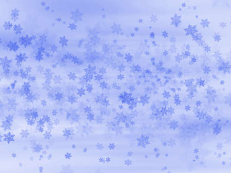 Illustration background graphic of snowflakes falling in Winter. Stock Illustration - 8127600