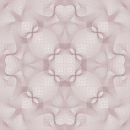 tangier grid, abstract guilloche background Vector