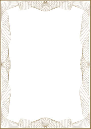 Guilloche   frame for diploma or certificate