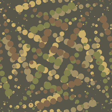 wartime: The green Camouflage seamless background. Illustration