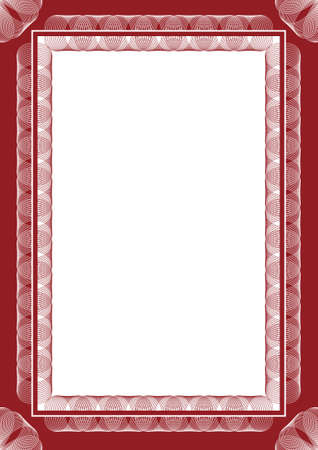 guilloche: Guilloche vector frame for diploma or certificate Illustration