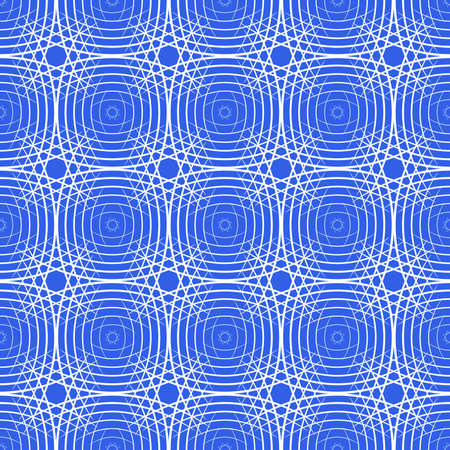 Seamless illustration of the white lines on a blue background Vector
