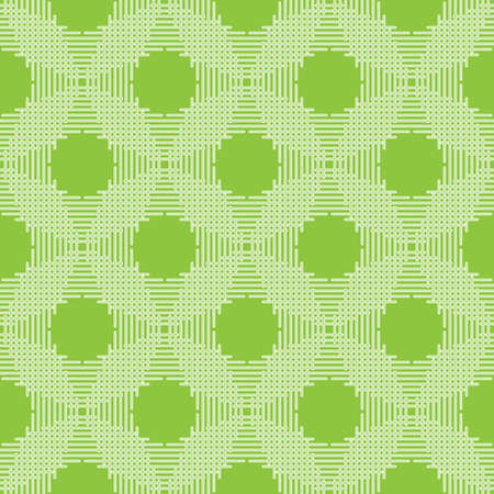 Seamless illustration of the white lines on a green background Vector