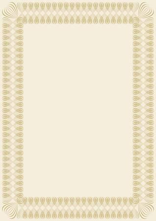 frame for diploma or certificate Illustration