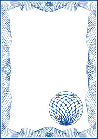 reiteration: Guilloche frame for diploma or certificate Illustration
