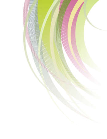 white hair: Abstract illustration: multi-colored hair cut on a white background Illustration