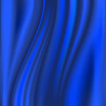 Blue satin, silk, waves, background, illustration