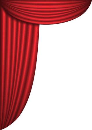 theater curtain: Open red theater curtain, background, vector illustration Illustration