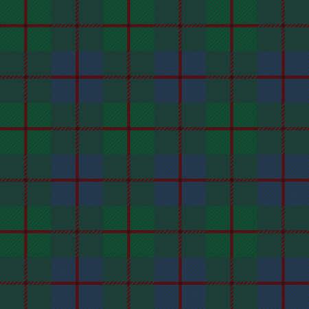 Arrière-plan transparent du motif écossais, illustration vectorielle