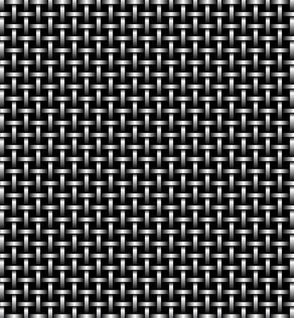 Metal grid of wires or pipes. Vector illustration Vector