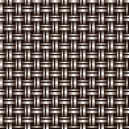 metal mesh: Metal seamless bronze grid of wires or pipes. Illustration