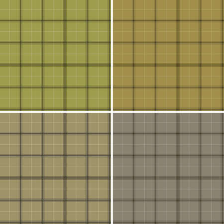 Scottish set of patterns camouflage colors Vector