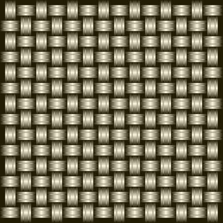 Metal grid of wires or pipes.  Vector
