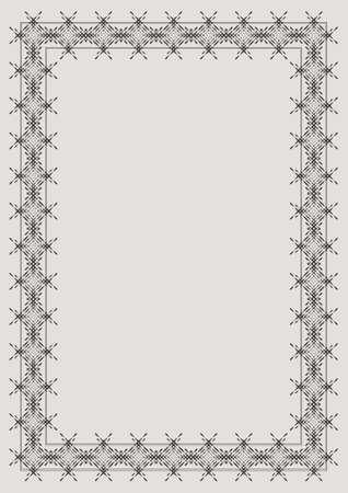 Frame for diploma or certificate, vector illustration Illustration