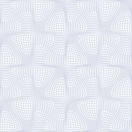 Vector illustration of tangier grid, abstract guilloche background Vector