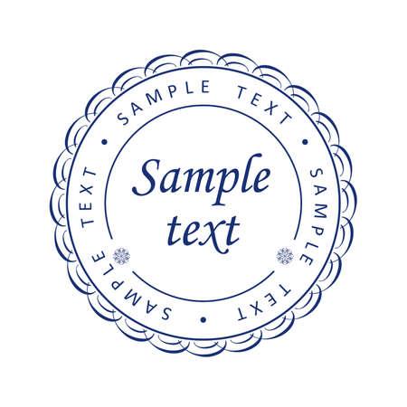 circulaire: Imprimer guilloch� bleu, patron de la monnaie, certificats ou dipl�mes