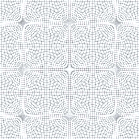 illustration of tangier grid, abstract guilloche background Vector
