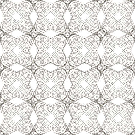 Vector seamless illustration of tangier grid, abstract guilloche background Stock Vector - 9363828