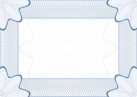 Guilloche vector frame for diploma or certificate Vector
