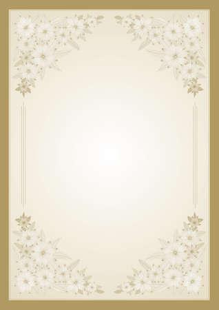 floral border frame: Floral vector frame for diploma or certificate Illustration
