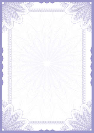 Guilloche vector frame for diploma or certificate Stock Vector - 9929583
