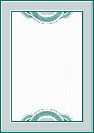 diploma border: Guilloche frame for diploma or certificate Illustration