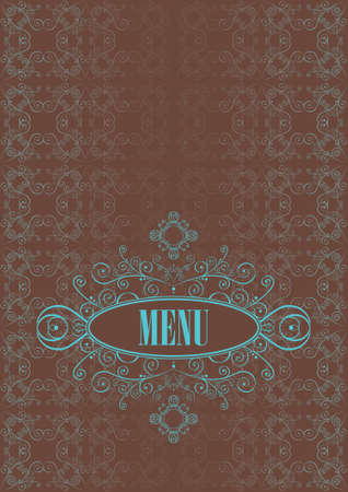 template ornate menu with vintage cutlery Stock Vector - 10046472