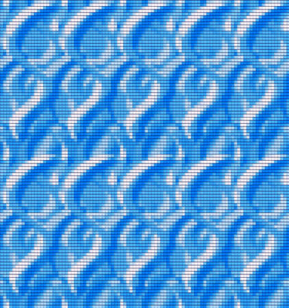 Blue abstract background of squares, blue waves or drops