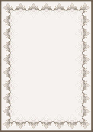reiteration: Guilloche vector frame for diploma or certificate Illustration