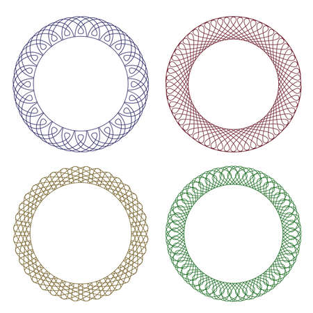 guilloche pattern: Vector pattern for currency, certificate or diplomas, decorative elements
