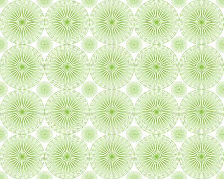 Seamless vector illustration of the green lines circles on a white background, clipping mask Vector