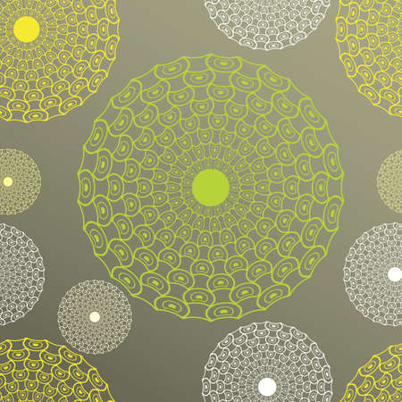 Seamless vector illustration of the lines circles on a color background, clipping mask Vector