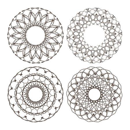 inimitable: Set of vector color border, decorative elements
