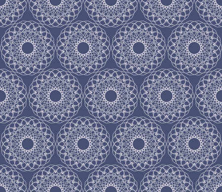 Seamless  illustration of the white ornament on a blue background Vector