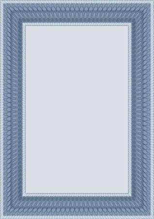 lineas verticales: Marco de vector revestido de diploma o certificado
