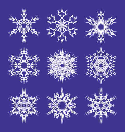 Snowflakes collection, element for design Vector