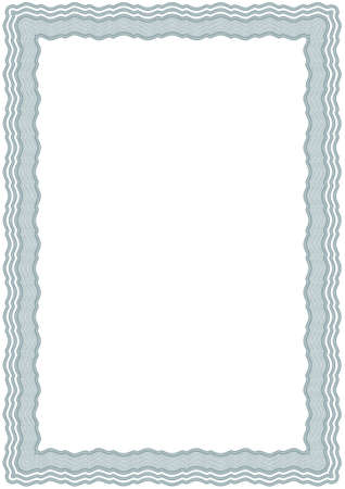guilloche pattern: Guilloche vector green frame for diploma or certificate Illustration