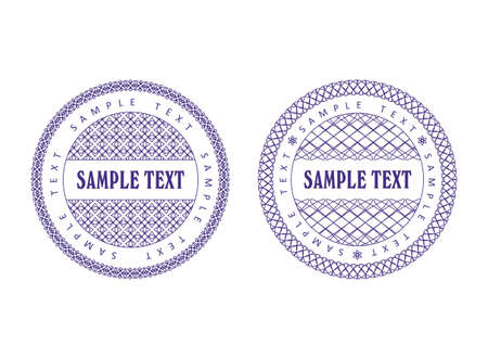 A set of vector guilloche seal, pattern for currency, certificate or diplomas, vector illustration Vector