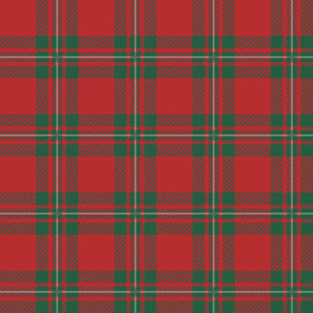 Seamless background of plaid pattern, vector illustration Vector