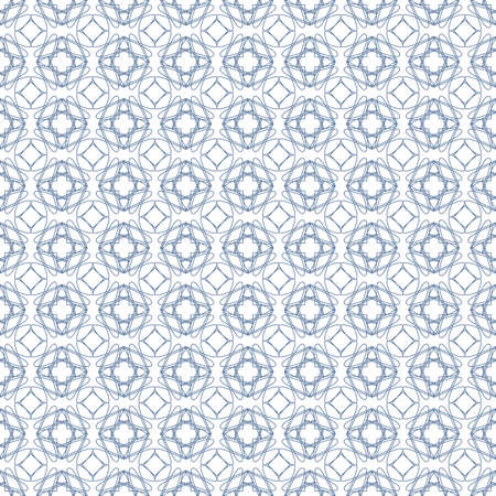 tangier: Vector seamless blue illustration of tangier grid, abstract guilloche background