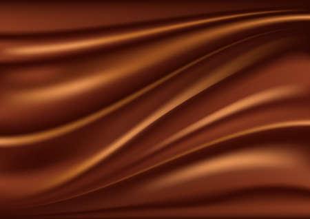 Chocolate de fondo abstracto, el satén marrón abstracto, ilustración vectorial de malla Ilustración de vector